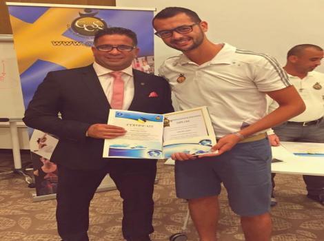 Burj Al-Luqluq Trainer Khaled Abu Dalu Finishes a Training Course in Turkey