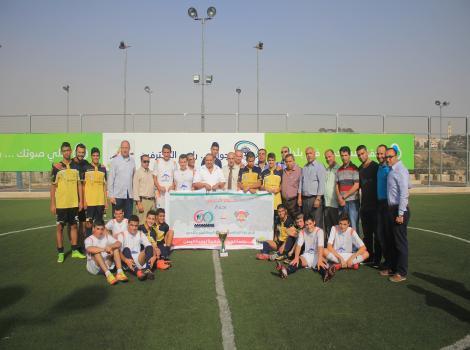 غزة الرياضي وموظفو القدس في مباراة كأس قدسنا لأطفال برج اللقلق