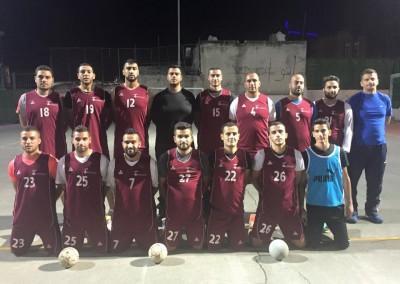 Burj Al-Luqluq Handball team training for Palestine Cup