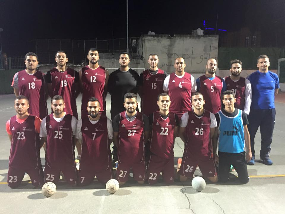 Burj Al-Luqluq Handball team training for Palestine Cup