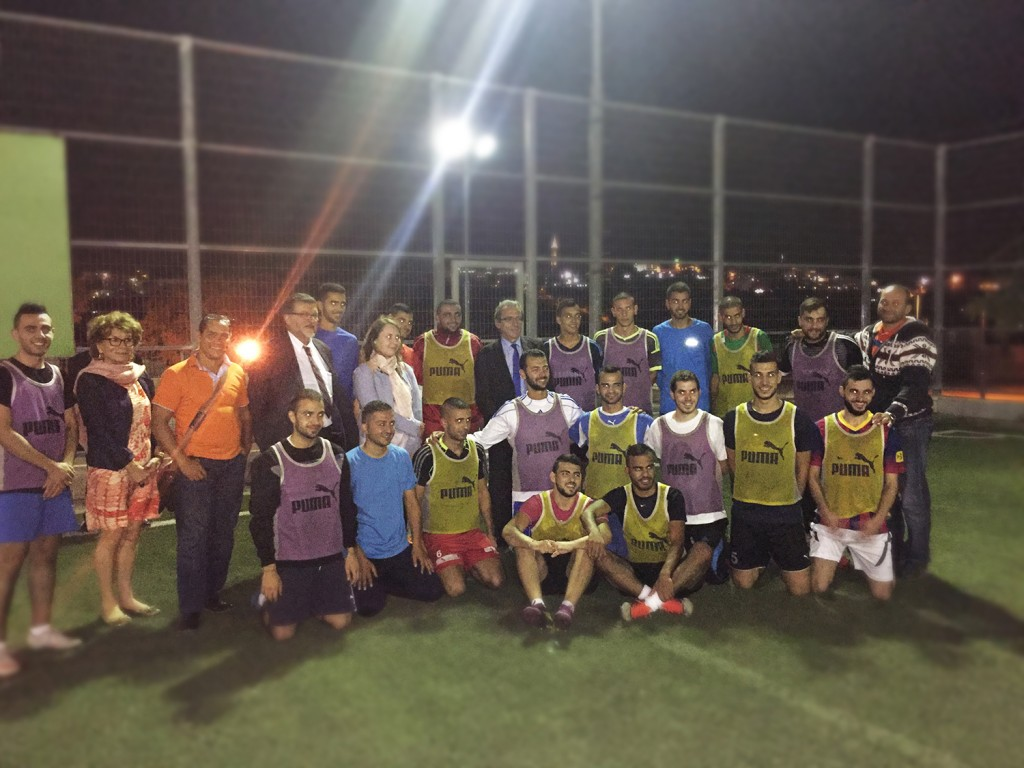 Burj Al-Luqluq Football team Hosts Strasburg Mayor