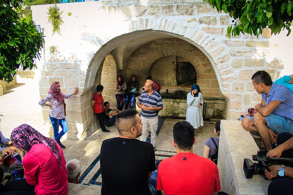 Jerusalem Role Model 'The Guards of History' visiting Lifta Village in the attendance of the advisor Mohammad Mousa Abu Al-Leil