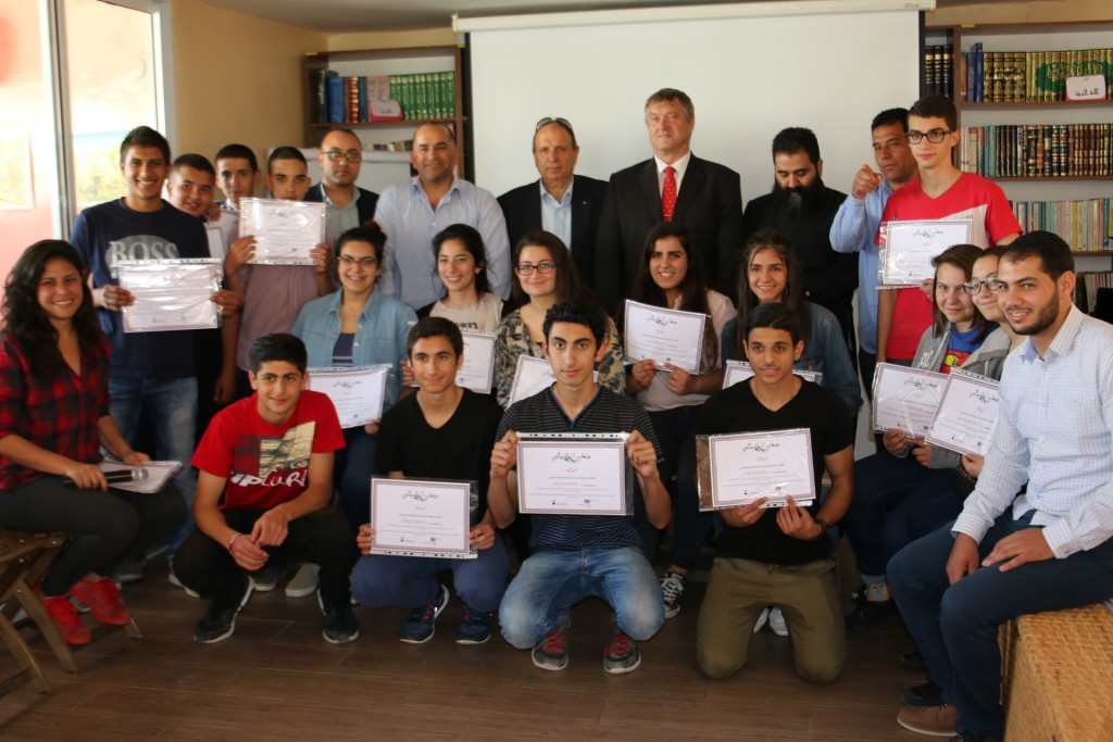 Funded by the British Council and its General Consul Ceremony Attendance Burj Al-luqluq Graduates the Participants of the Program 'Juzur Shabab 2'