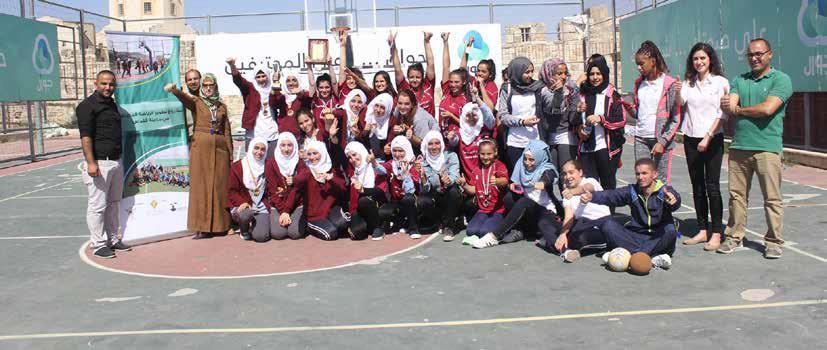 ضمن مشروع تطوير الرياضة المدرسية مدرسة النظامية الثانوية بطل دوري مدارس التربية للفتيات بكرة اليد