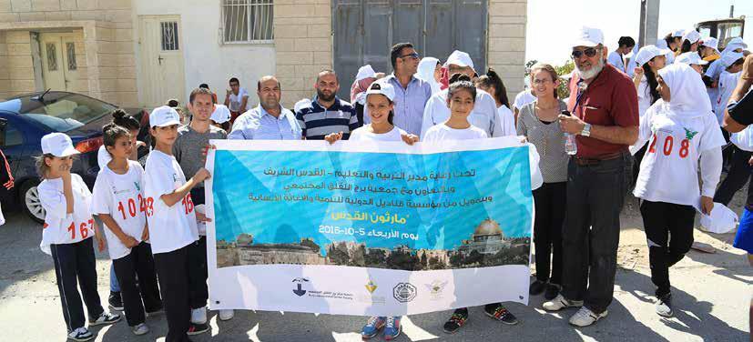 بتمويل من مؤسسة قناديل الدولية برج اللقلق وجامعة القدس ومديرية التربية ينجحون في تنظيم ماراثون القدس لطلبة المدارس