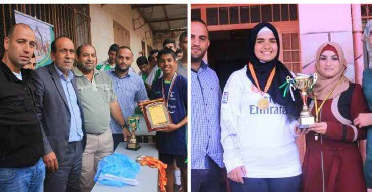 Funded By Qanadeel & Hosted by Burj Al-Luqluq Al-Ummah Boys High School & Al-Nizamiyeh Girls School Win the Volleyball Championships