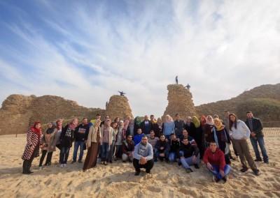 برج اللقلق تختتم العام 2016 بجولة إلى اسدود وعسقلان ضمن برنامج المرشد الشاب 2