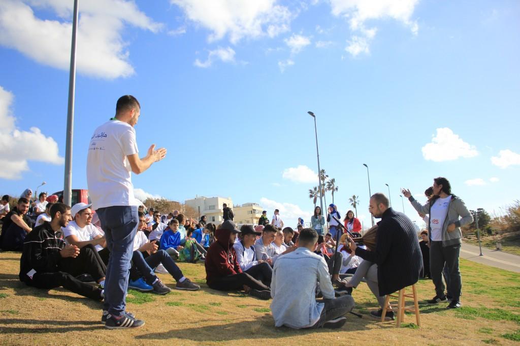 تنظيم ماراثون البحر على شاطئ يافا بمشاركة 100 شاب مقدسي