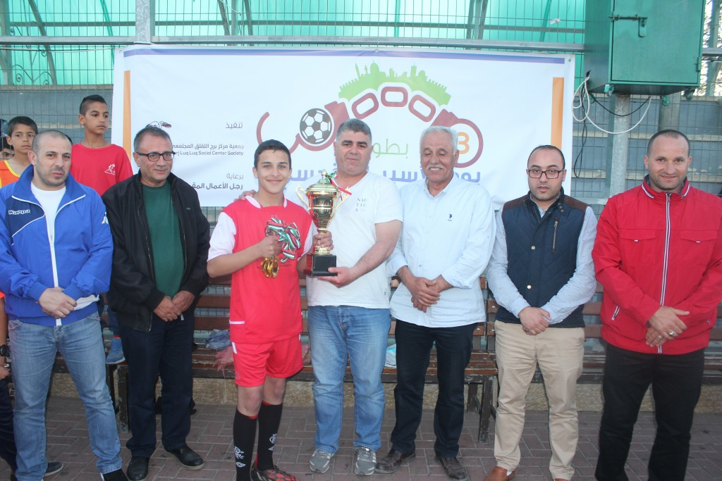 Burj Al-Luqluq Social Center Society hosts and organizes the tournament 'the prisoner's Day'