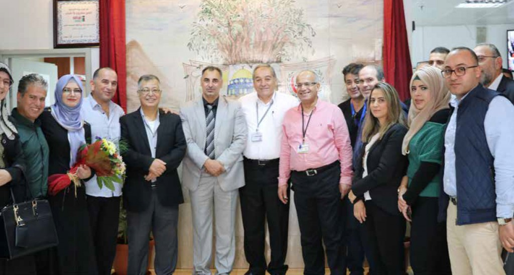 Burj Al-Luqluq & Al-Makassed Hospital Open the Youth Wall
