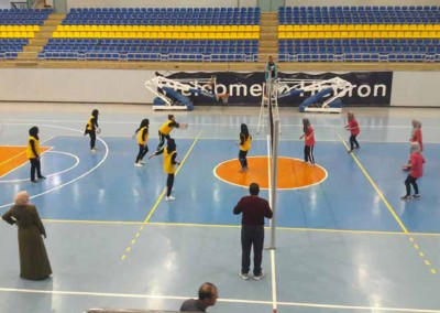 The Ministry of Education Girls Team Crowns the Volleyball Championship