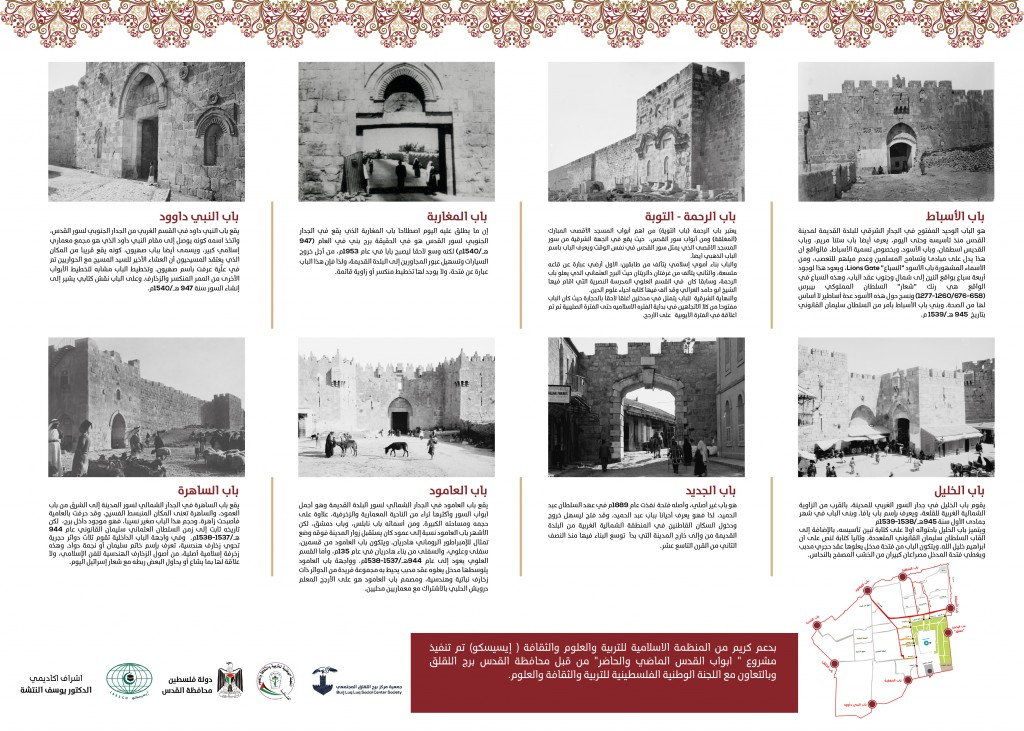"Burj Al-Luqluq and Al-Quds Governorate Revive ""Jerusalem Gates, Past & Present"" Project"