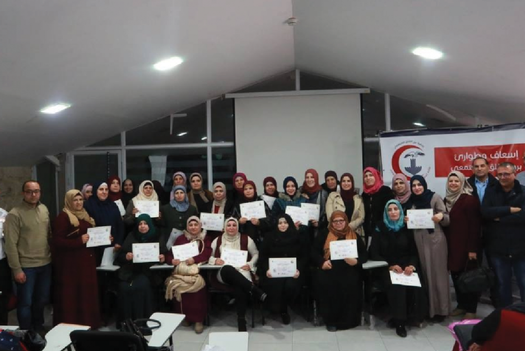 Burj Al-Luqluq Graduates the Firs-Aid Unit Students