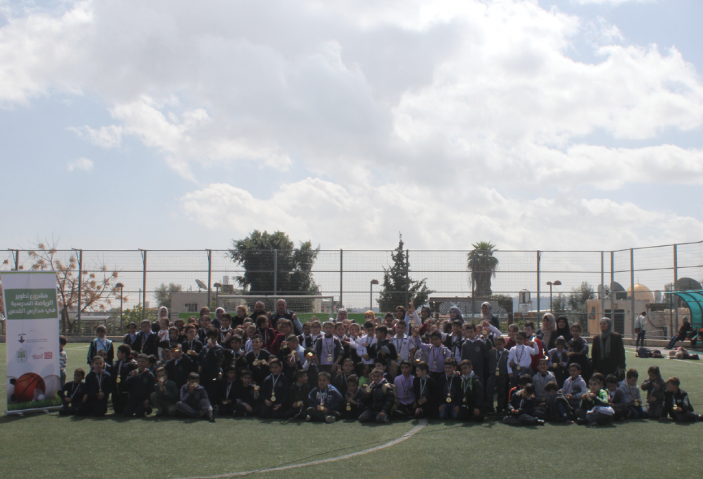 "Burj Al-Luqluq Organizes ""Tele-match' Activities for the Schools of Jerusalem"