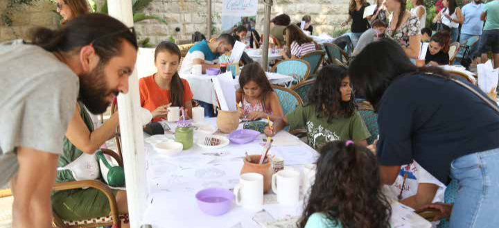 Funded by the EU  Burj AL-Luqluq Organizes a Ceramic Paint Party