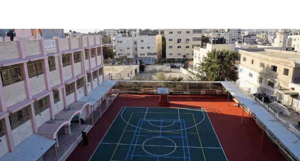 التربية والتعليم وبرج اللقلق المجتمعي  تفتتحان ملعب مدرسة بنات  الأقصى الثانوية