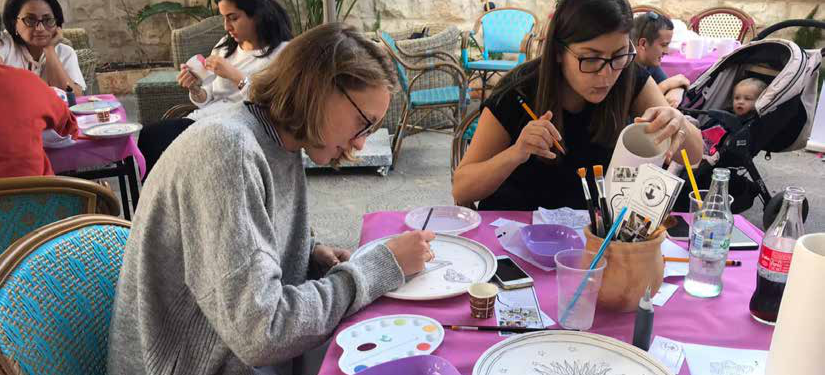 Burj AL-Luqluq & Borderline Organize the 2nd Ceramic Paint Party – Fall Version