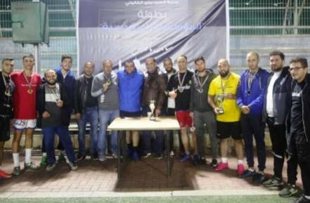 BALL crowned the title of champion of the Jerusalem Institutions, the Eye Hospital, Suiffa and the Teachers Syndicate in third place