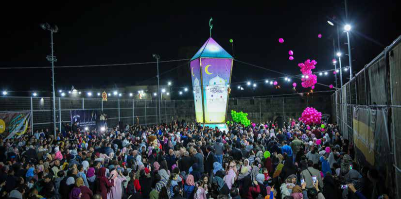Lighting of Jerusalem lantern in a Part of Jerusalem Ramadan campaign