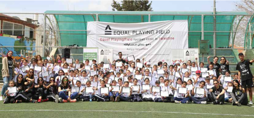 Burj Al-Laqlaq Hosts the Project of Developing Equality in the Sport,s Field in Palestine