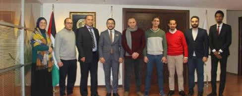The chairman of the Islamic Youth Forum Hosted Burj Al luqluq and Al Rajaa Jerusalemite associations