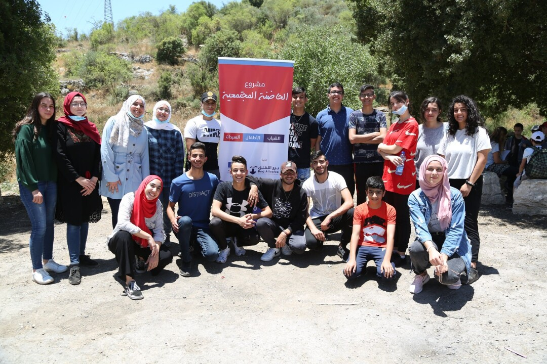 A joint tour of youth groups in Burj Alluqluq Social Center Society to the displaced Jerusalemite villages