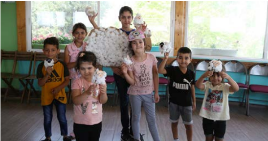 Eid al-adha sheep Art workshop for Jerusalemite children