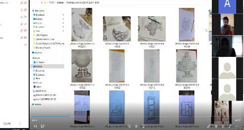 مشغل خزف جمعية برج اللقلق يستكمل دورة الخزف  من خلال تطبيق Zoom