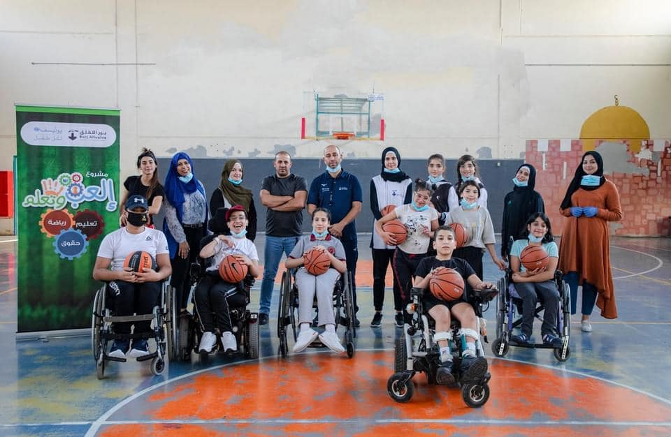 The first in Jerusalem Burj Al-Luqluq begins basketball training for people of determination