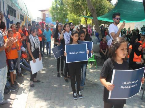 "Burj Al-Luqluq Celebrates the Closing Ceremony of ""Saifna Maqdisi"" Summer Camp"