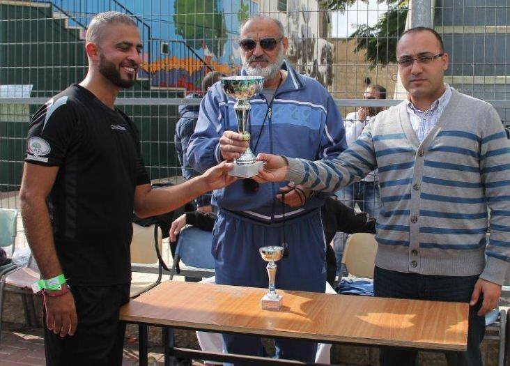 The champions of (We're not afraid) championship for Al-Quds University students –Bab Ala'mod Team