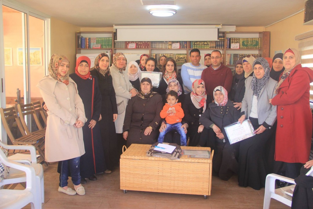 Sponsored and Partnered by Welfare Association  Burj Al-Luqluq Social Center Celebrates the Closing Ceremony 'We Aware our Community' Project for Women in Bab Hutta and Old City Neighborhoods