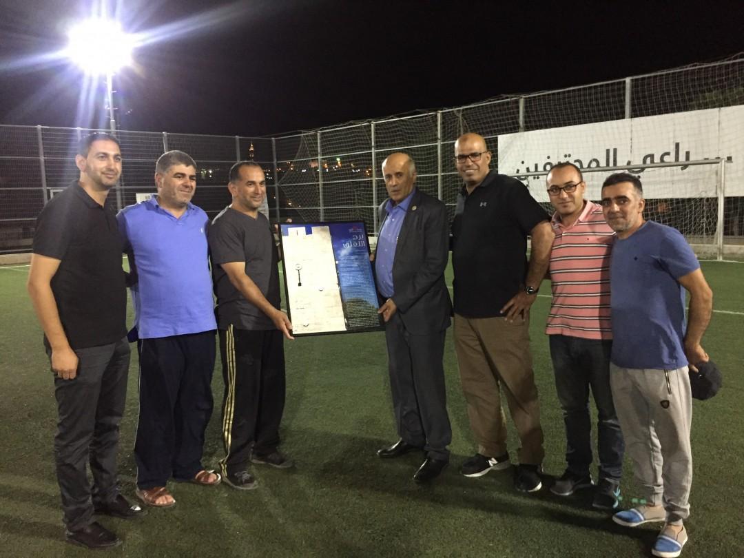 رئيس المجلس الاعلى للشباب والرياضة جبريل ارجوب يزور جمعية برج اللقلق المجتمعي