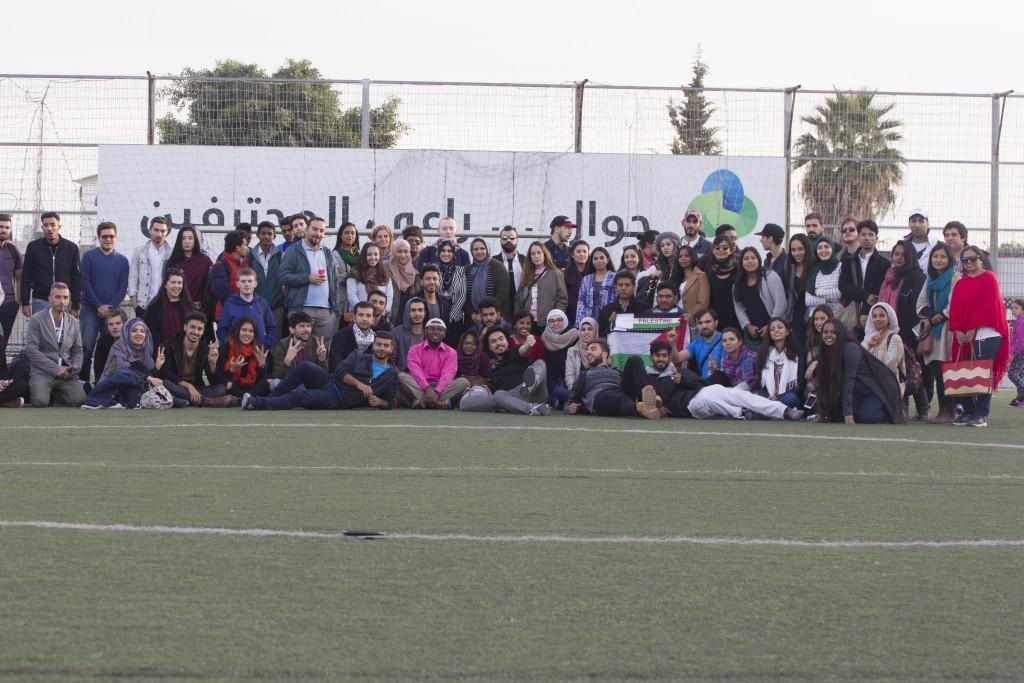 استضافة 100 مشارك من المعسكر الدولي المقام في فلسطين 29/11/2016