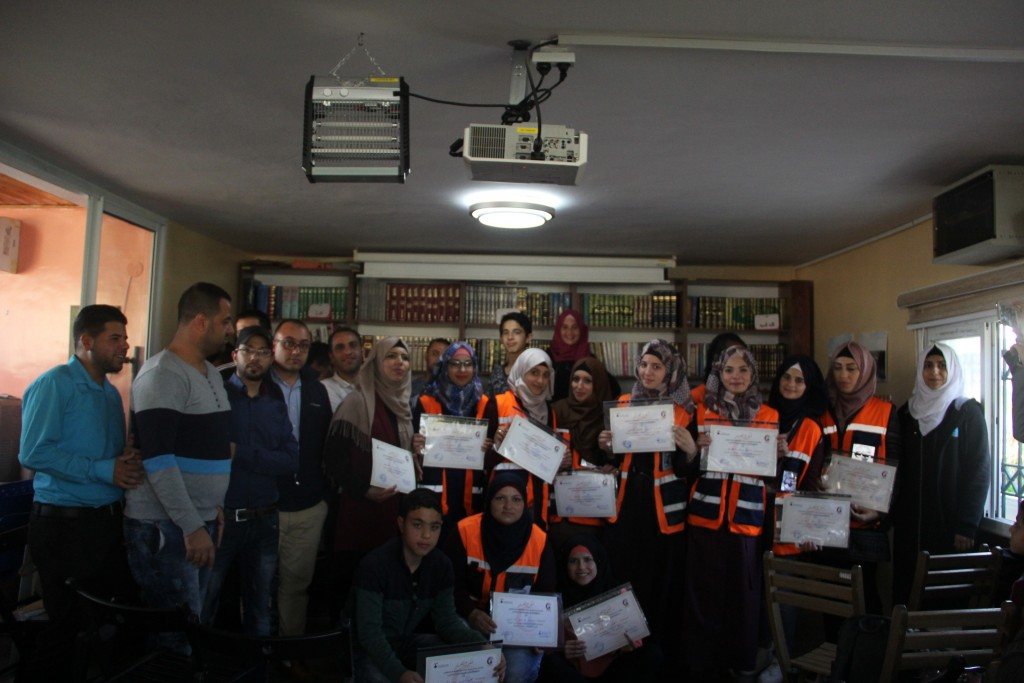 Burj Al-Luqluq Honor the Volunteers of the Firs-Aid Unit