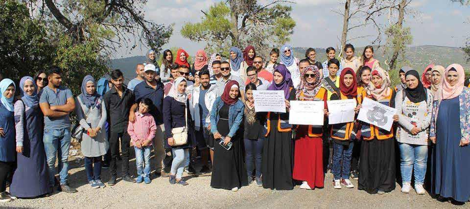 """سلطة جودة البيئة وبرج اللقلق ووزارة الزراعة ينظمون جولة بيئية  إلى قرية دير الشيخ ووادي """"القتل اب"""""""