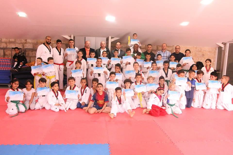 جمعية برج اللقلق تخرج 70 طالبا وطالبة بلعبة التايكوندو