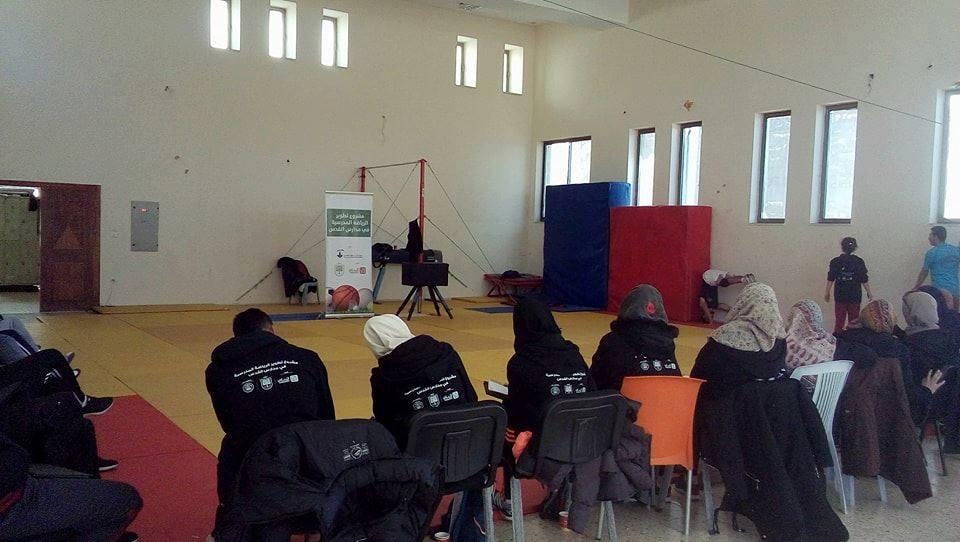 جمعية برج اللقلق ومدير التربية ينظمان اول دورة تدريبية بالجمباز للمعلمين ضمن مشروع تطوير الرياضة المقدسية