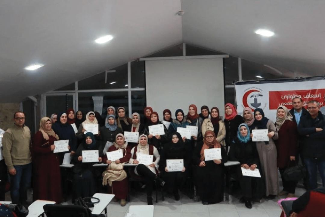 Burj Al-Luqluq Graduates the Firs-Aid Unit Students