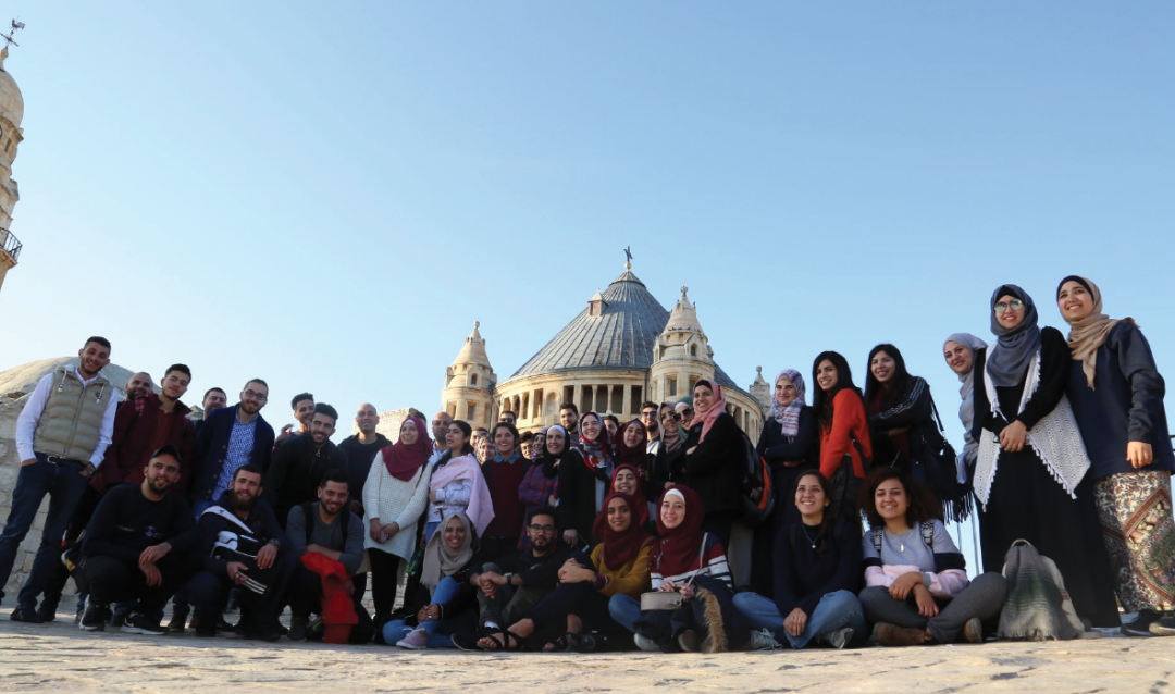 The Young Guide 3 Organizes a Tour around the Historical Jerusalem