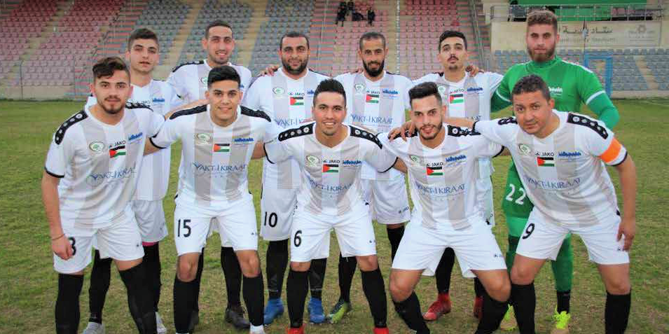 Staff Management – Burj Al-Laqlaq celebrates its    team in the football game