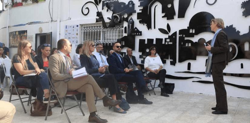 زيارة وفد من المؤسسات الدولية والقنصليات  لمشاريع اليونسف في القدس