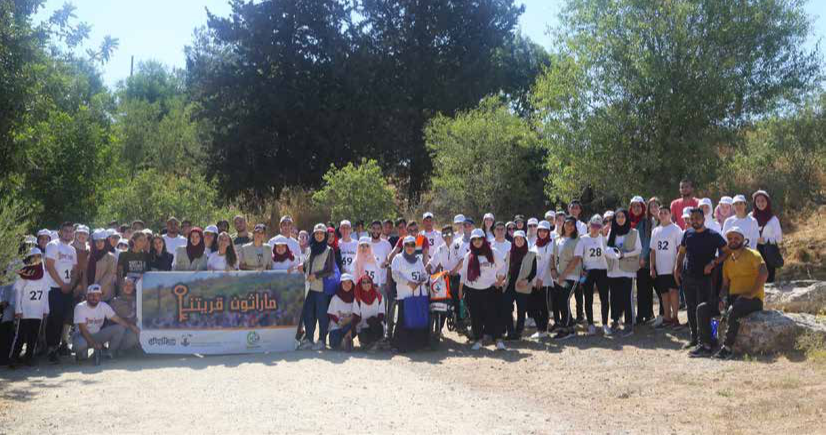 Souna Al-Hayat Team & Burj Al-Luqluq Organizes  Qaryatuna Marathon for the Third Year
