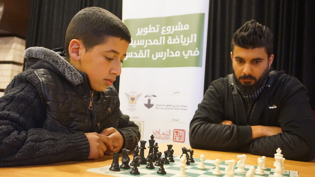 Burj Al-luqluq Social Center Society begins the chess tournament for male and female school students in Jerusalem