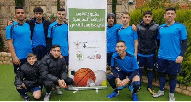 Burj Alluqluq Social Center Society starts high school football Tournament in Jerusalem schools