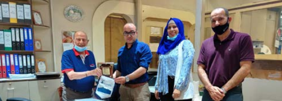 Burj Alluqluq Social Center Society honors the Jerusalem Cigarette Company for helping to rid chairs of people with disabilities To establish the first basketball team for people with disabilities in Jerusalem