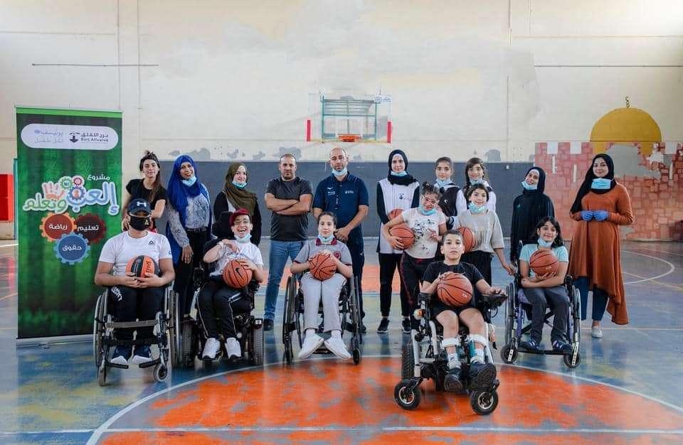 """الأولى في مدينة القدس  برج اللقلق يباشر تدريبات كرة السلة """"لذوي الهمم"""""""